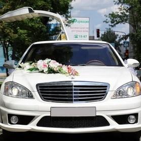 029 Лимузин Mercedes W221 S63 белый - авто на свадьбу в Киеве - портфолио 3