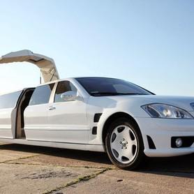 029 Лимузин Mercedes W221 S63 белый - авто на свадьбу в Киеве - портфолио 2