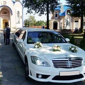 029 Лимузин Mercedes W221 S63 белый - авто на свадьбу в Киеве - портфолио 4