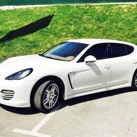 160 Porsche Panamera белая аренда - авто на свадьбу в Киеве - портфолио 1