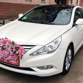165 Hyundai Sonata белая 2013 - авто на свадьбу в Киеве - портфолио 3