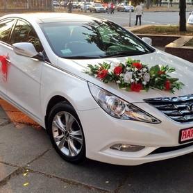 165 Hyundai Sonata белая 2013 - авто на свадьбу в Киеве - портфолио 1