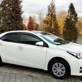 170 Toyota Corolla белая аренда на свадьбу - авто на свадьбу в Киеве - портфолио 2
