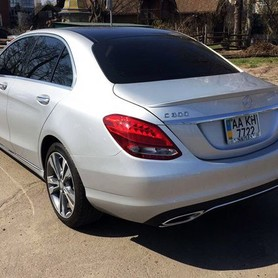 109 Mercedes С300 серебристый - авто на свадьбу в Киеве - портфолио 5