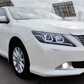 152 Toyota Camry V50 белая - авто на свадьбу в Киеве - портфолио 5