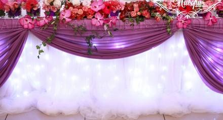 При оформлении в фиолетовых цветах - скидка