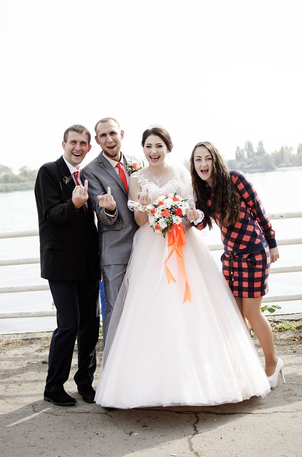 Оранжевая свадьба - фото №39