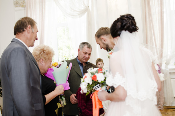 Оранжевая свадьба - фото №25