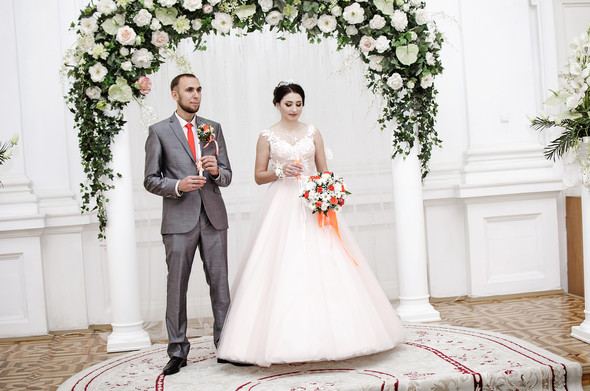 Оранжевая свадьба - фото №22