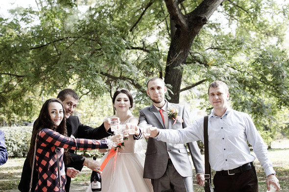 Оранжевая свадьба - фото №35