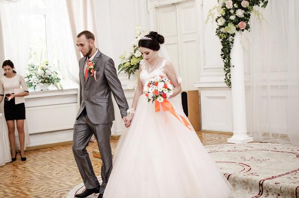 Оранжевая свадьба - фото №24