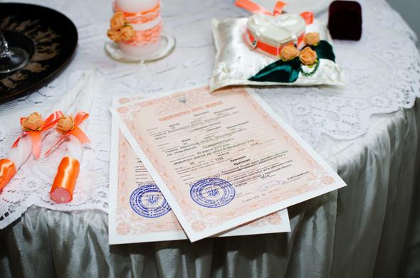 Оранжевая свадьба - фото №14