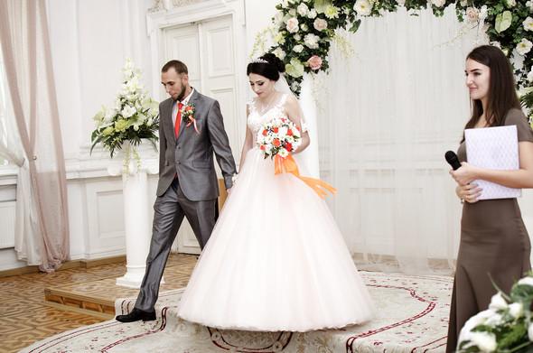 Оранжевая свадьба - фото №23