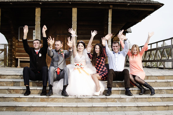Оранжевая свадьба - фото №74