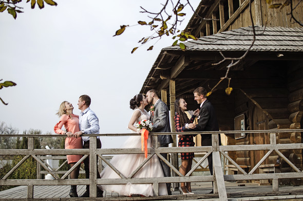 Оранжевая свадьба - фото №72