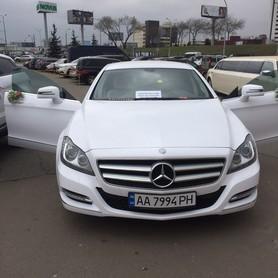 Mercedes CLS 6,3 AMG white - авто на свадьбу в Киеве - портфолио 1