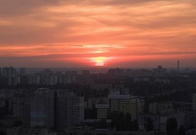 Смотровая площадка на проспекте Лобановского - место для фотосессии в Киеве - портфолио 1