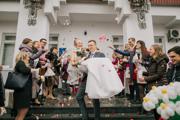Тёплая ноябрьская свадьба - фото №13