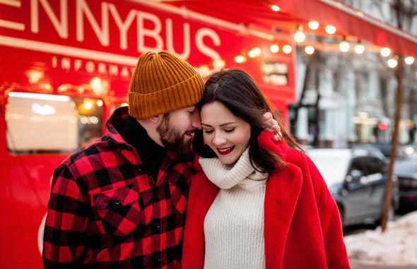 Зимня Love Story Кати и Саши - фото №2