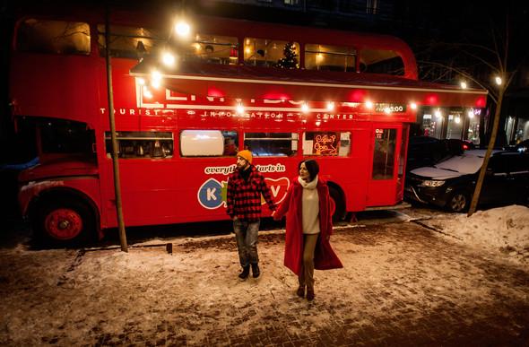 Зимня Love Story Кати и Саши - фото №14