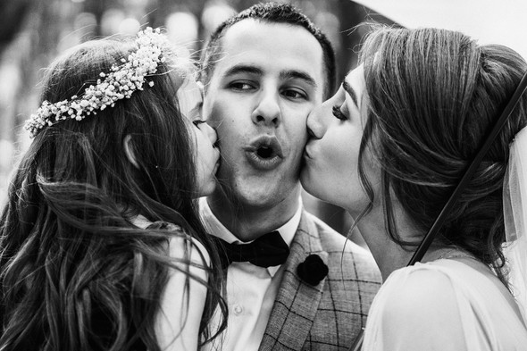 Нежная рустик-свадьба в лесу - фото №73