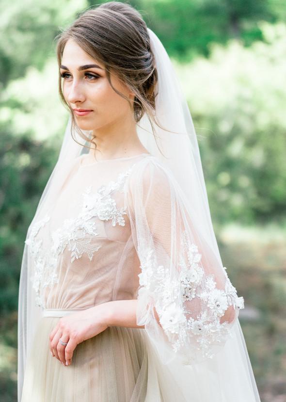 Нежная рустик-свадьба в лесу - фото №108