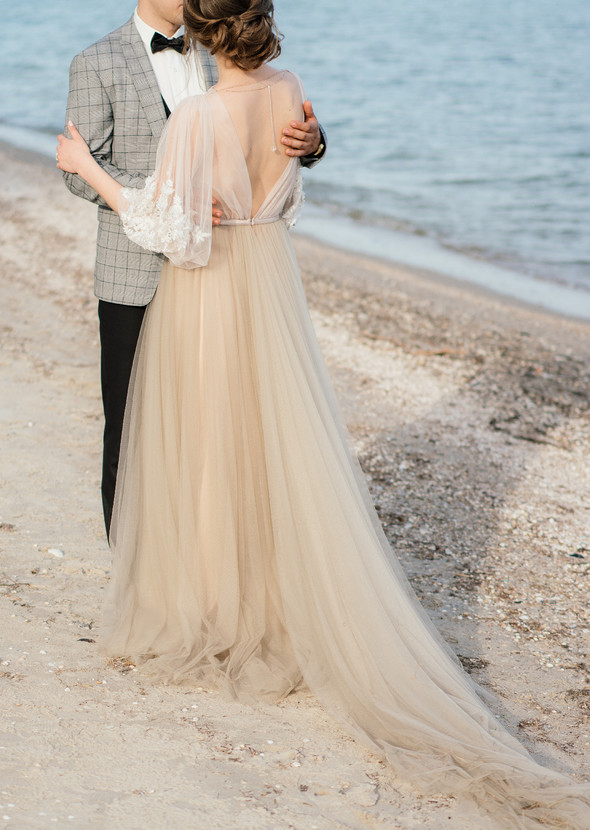 Нежная рустик-свадьба в лесу - фото №137