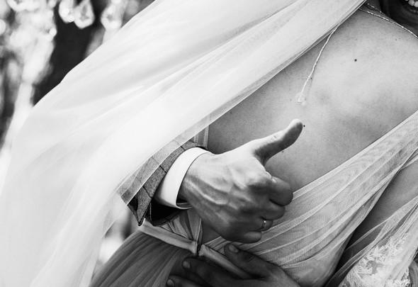 Нежная рустик-свадьба в лесу - фото №56