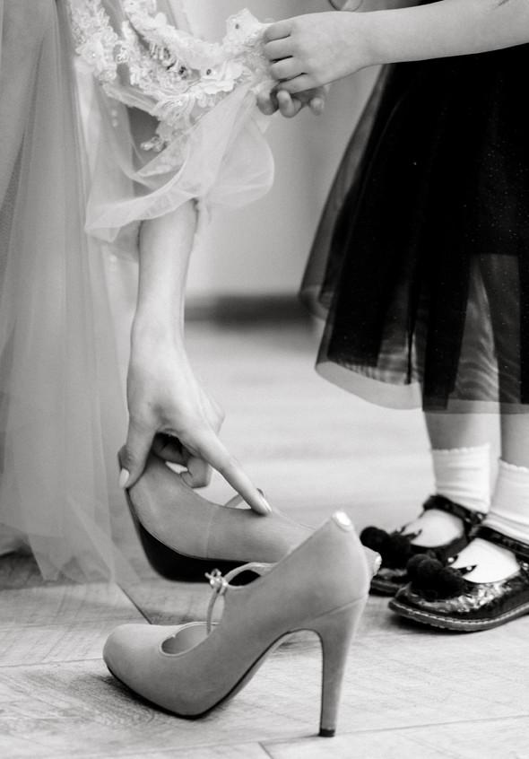 Нежная рустик-свадьба в лесу - фото №24
