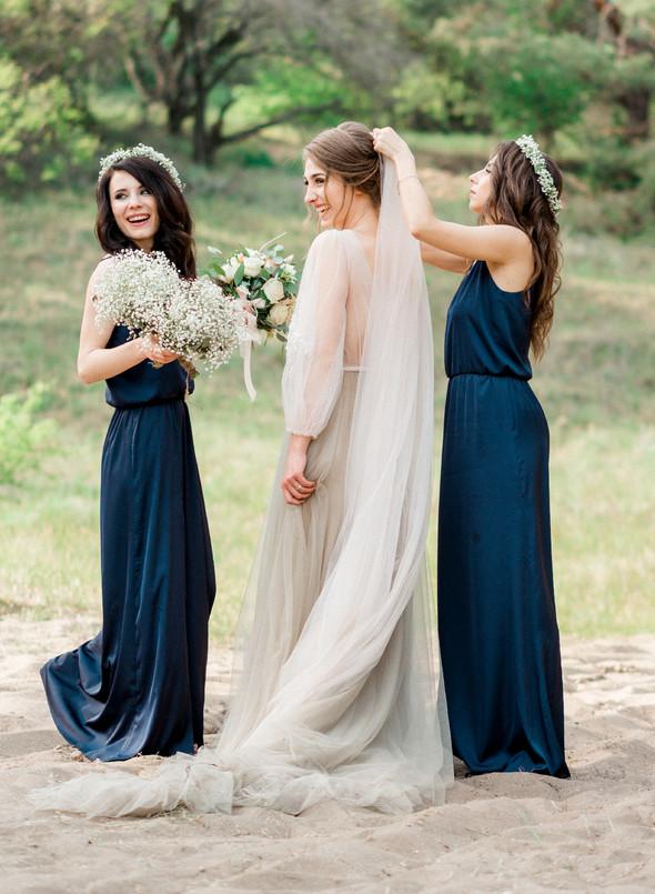 Нежная рустик-свадьба в лесу - фото №122