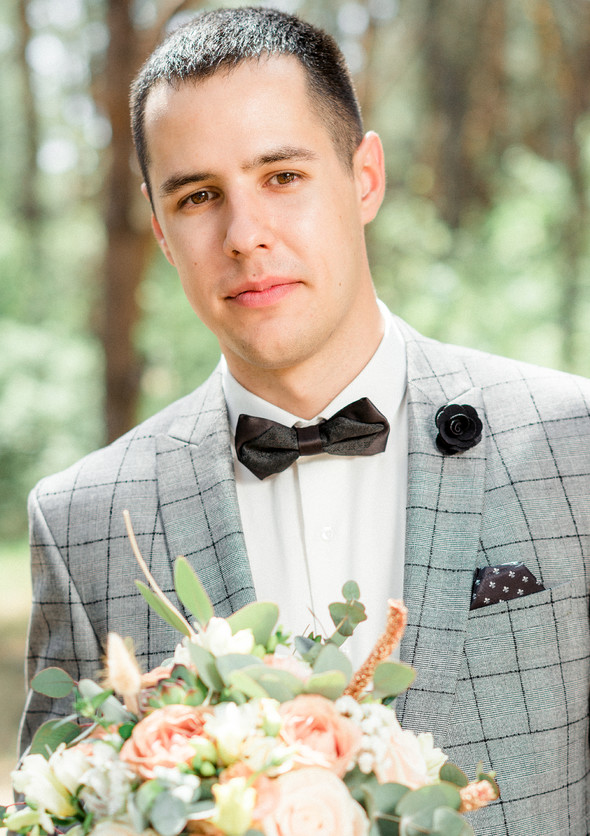 Нежная рустик-свадьба в лесу - фото №34
