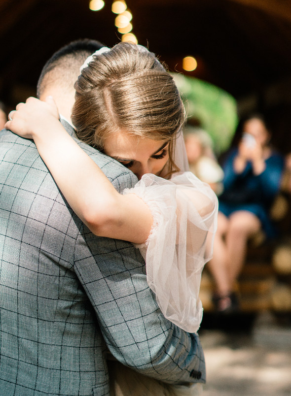 Нежная рустик-свадьба в лесу - фото №70