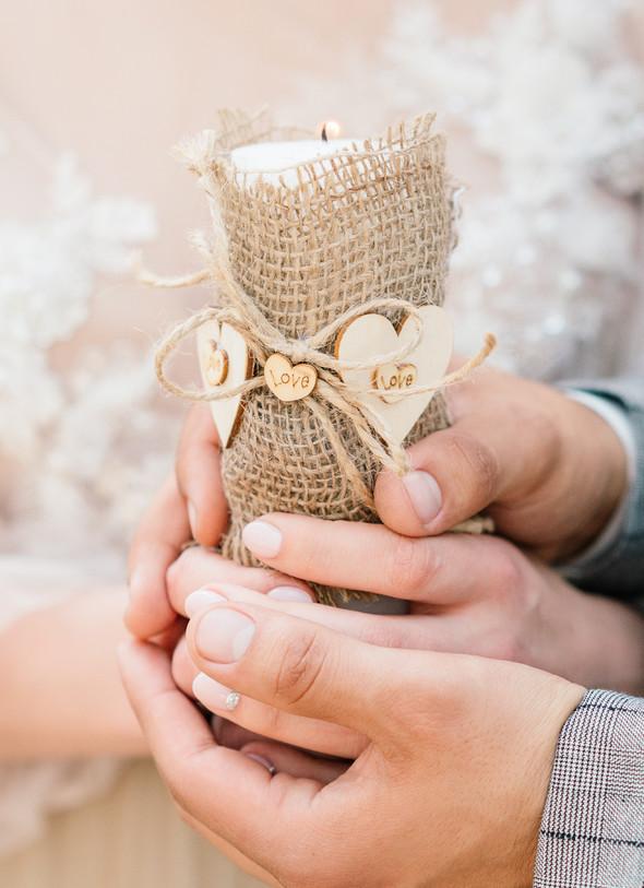 Нежная рустик-свадьба в лесу - фото №55