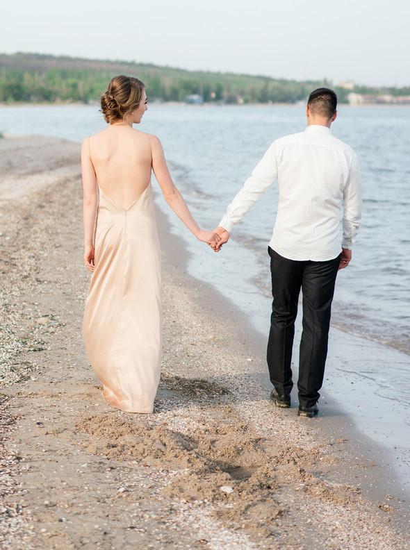 Нежная рустик-свадьба в лесу - фото №146