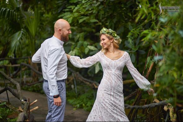 Свадебные фото в Оранжерее в Киеве, студийная сьемка в фотостудии Счастье - фото №5