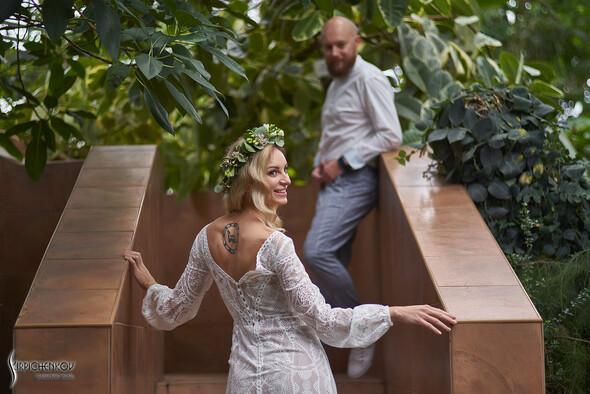 Свадебные фото в Оранжерее в Киеве, студийная сьемка в фотостудии Счастье - фото №22