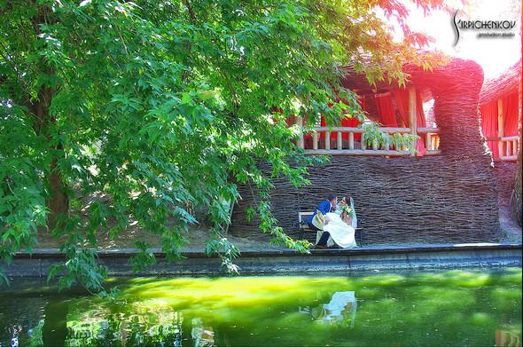 Свадебные фото на Мануфактуре и выездная церемония в ресторане Kidev - фото №35
