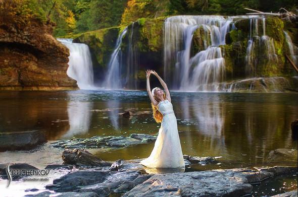 Свадебные фото в каньоне Буки и выездная церемония в ресторане Фортеця - фото №42