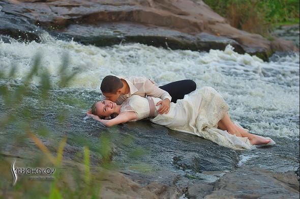 Свадебные фото в каньоне Буки и выездная церемония в ресторане Фортеця - фото №54