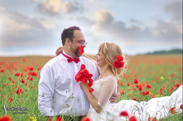 Свадебные фото на море в Одессе, фото в Оперном театре и на маковом поле - фото №43