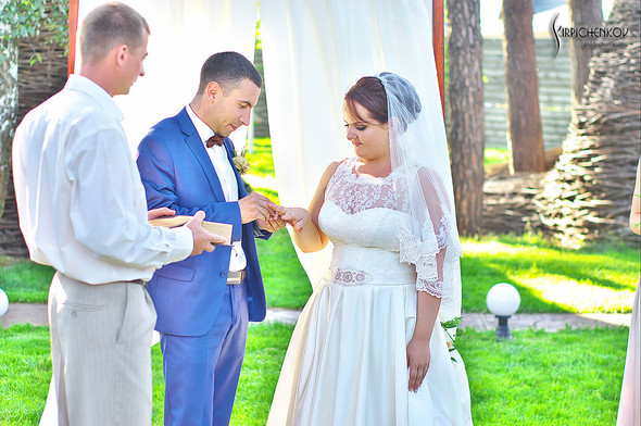 Свадебные фото на Мануфактуре и выездная церемония в ресторане Kidev - фото №80