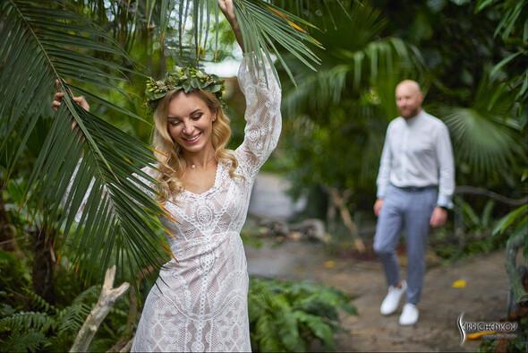 Свадебные фото в Оранжерее в Киеве, студийная сьемка в фотостудии Счастье - фото №11