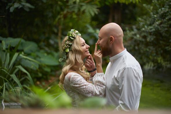 Свадебные фото в Оранжерее в Киеве, студийная сьемка в фотостудии Счастье - фото №21