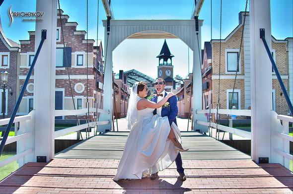 Свадебные фото на Мануфактуре и выездная церемония в ресторане Kidev - фото №39