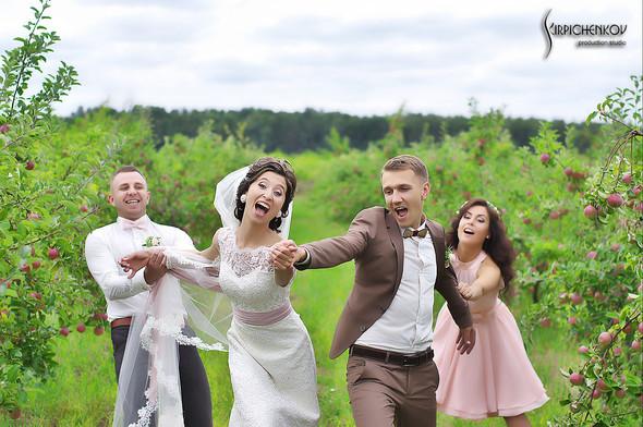 Свадебные фото в яблочном саду, г. Чернигов - фото №31