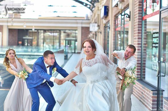 Свадебные фото на Мануфактуре и выездная церемония в ресторане Kidev - фото №61
