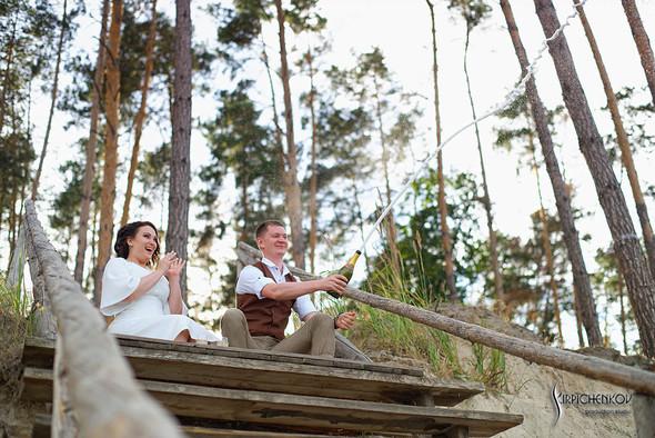 Свадебные фото в Сухолучье, Киевское море и сьемка в поле  - фото №9