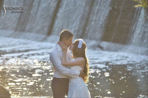 Свадебные фото в каньоне Буки и выездная церемония в ресторане Фортеця - фото №43