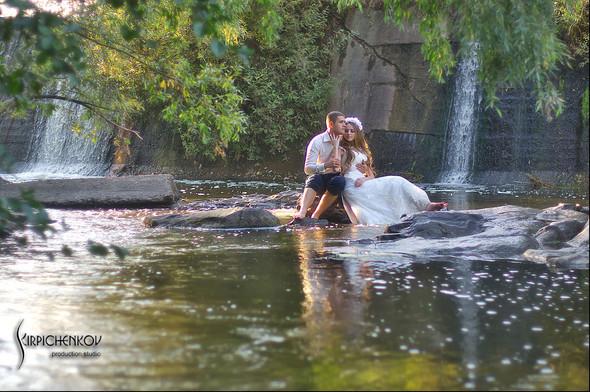 Свадебные фото в каньоне Буки и выездная церемония в ресторане Фортеця - фото №45