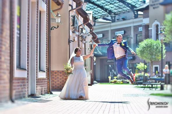 Свадебные фото на Мануфактуре и выездная церемония в ресторане Kidev - фото №45